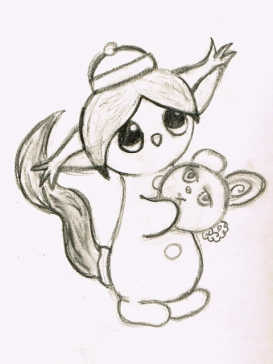 icysquirrel holding dango bunny